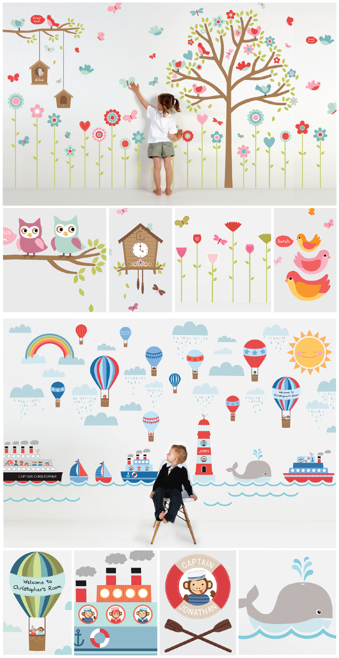 31 samples of wall stickers that can reanimate a room wall stickers pinterest kinderzimmer. Black Bedroom Furniture Sets. Home Design Ideas