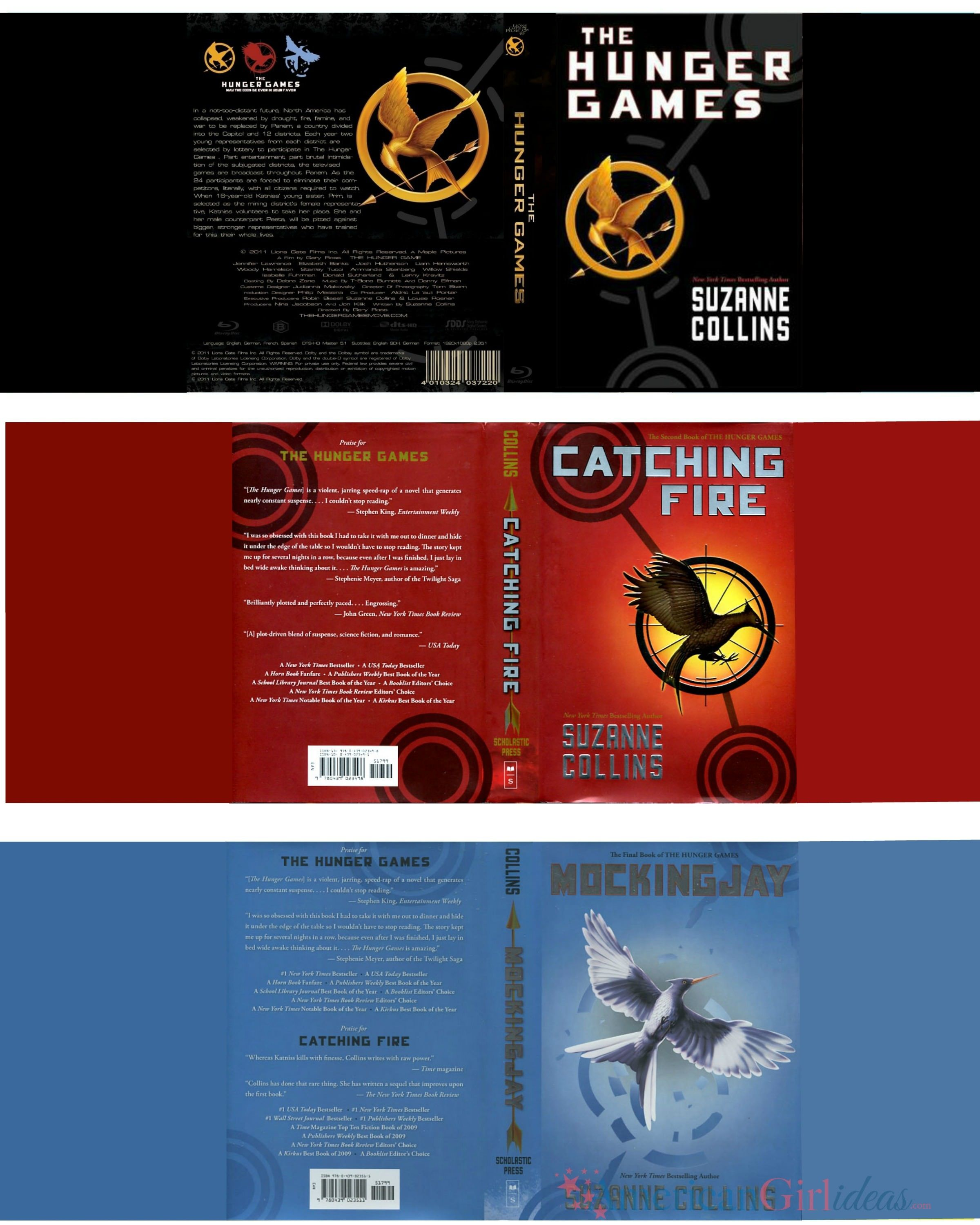 Book Cover Graphism Games ~ Hunger games book cover front and back imgkid