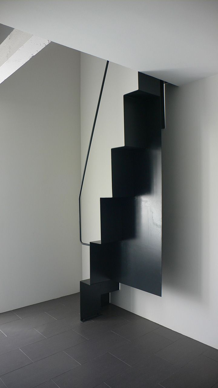 arch home arch and home escalier contemporain. Black Bedroom Furniture Sets. Home Design Ideas