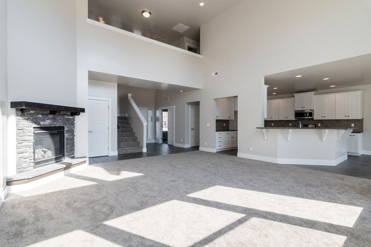 Our Jaws Dropped To The Floor When We Saw This Gorgeous Modern Grey And White Home Designed Top To Bottom By One Of Our House Design Modern House Design House