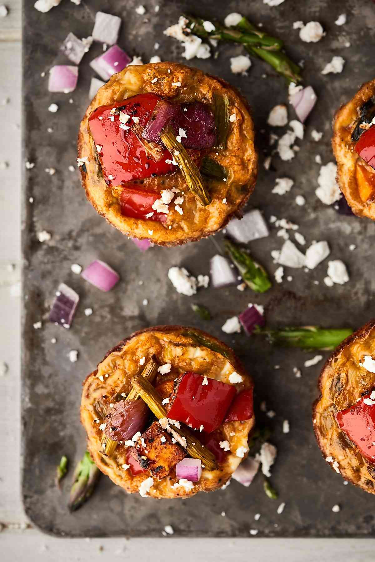These Roasted Vegetable Breakfast Muffins Make The Perfect Easy
