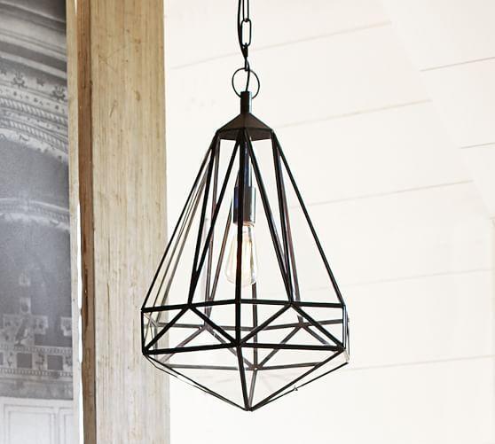 Elegant Faceted Indoor/Outdoor Pendant | Pottery Barn