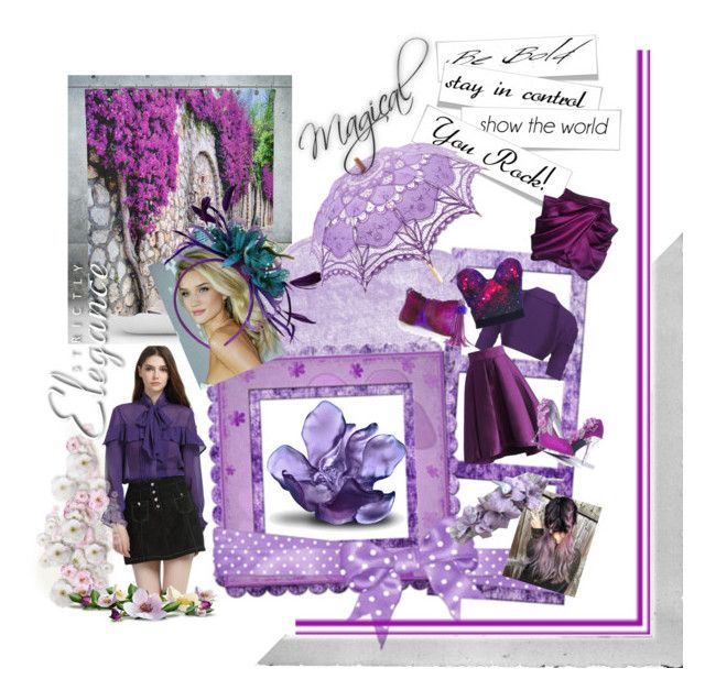 """""""Magical Purple 💜"""" by lawvel ❤ liked on Polyvore featuring Chicwish, Balmain, Daum and Polaroid"""