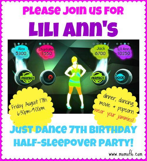 Half Sleepover Birthday Party Ideas!