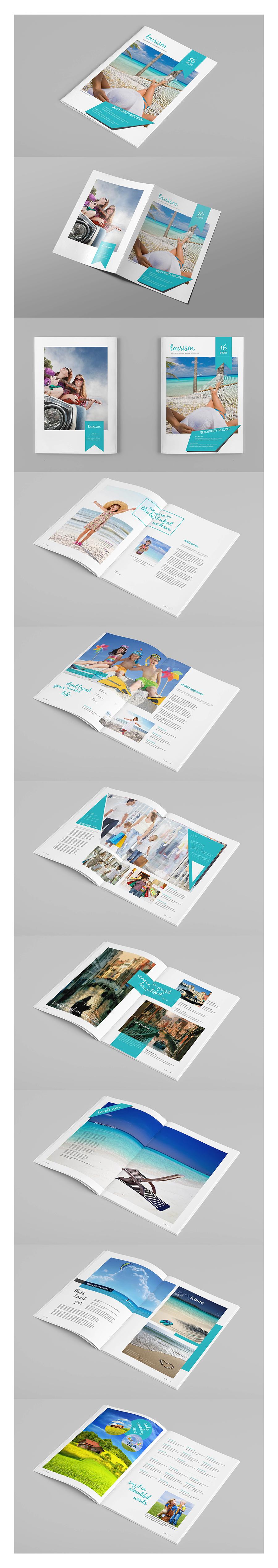 InDesign Brochure Template | Estudiantes, Catálogo y Verano