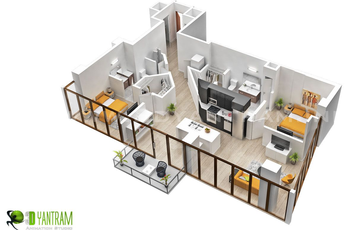 Charmant 3D Residential Virtual Floor Plan Design