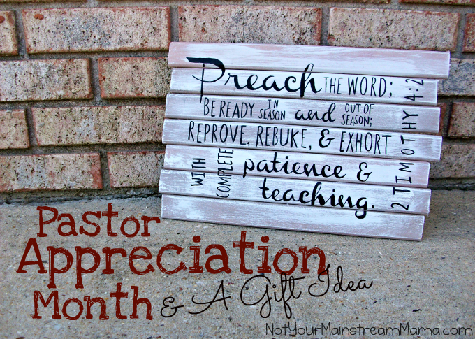 Pastor Reciation Month A Gift Idea