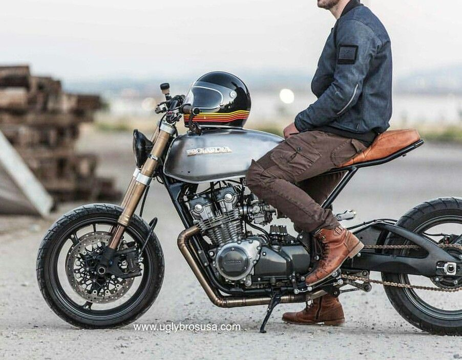 Honda Custom Cafe Racer Mota Motos Vetement Moto Et