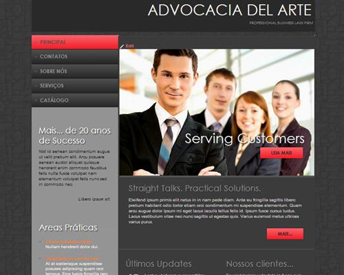 Advocacia Del Arte Tema para Sites