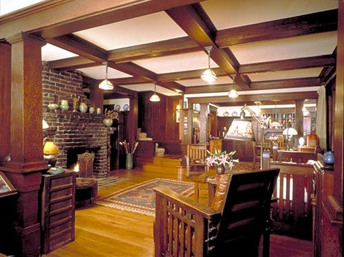 Charmant Craftsman Home Interiors.