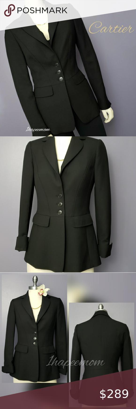 Cartier Blazer Womens Wool Coat Black Jacket Black Suit Jacket Blazer Coat Blazers For Women [ 1740 x 580 Pixel ]