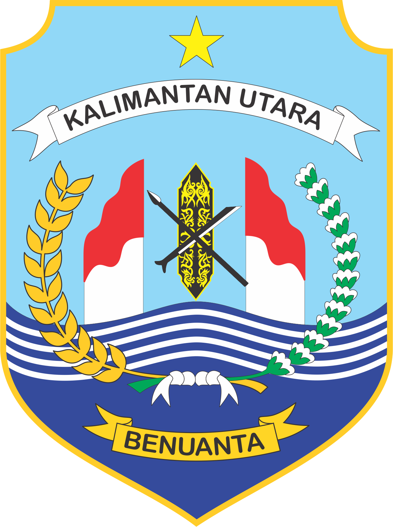 Logo Provinsi Kalimantan Utara Vector Ai Cdr Eps Png Di 2020 Kalimantan