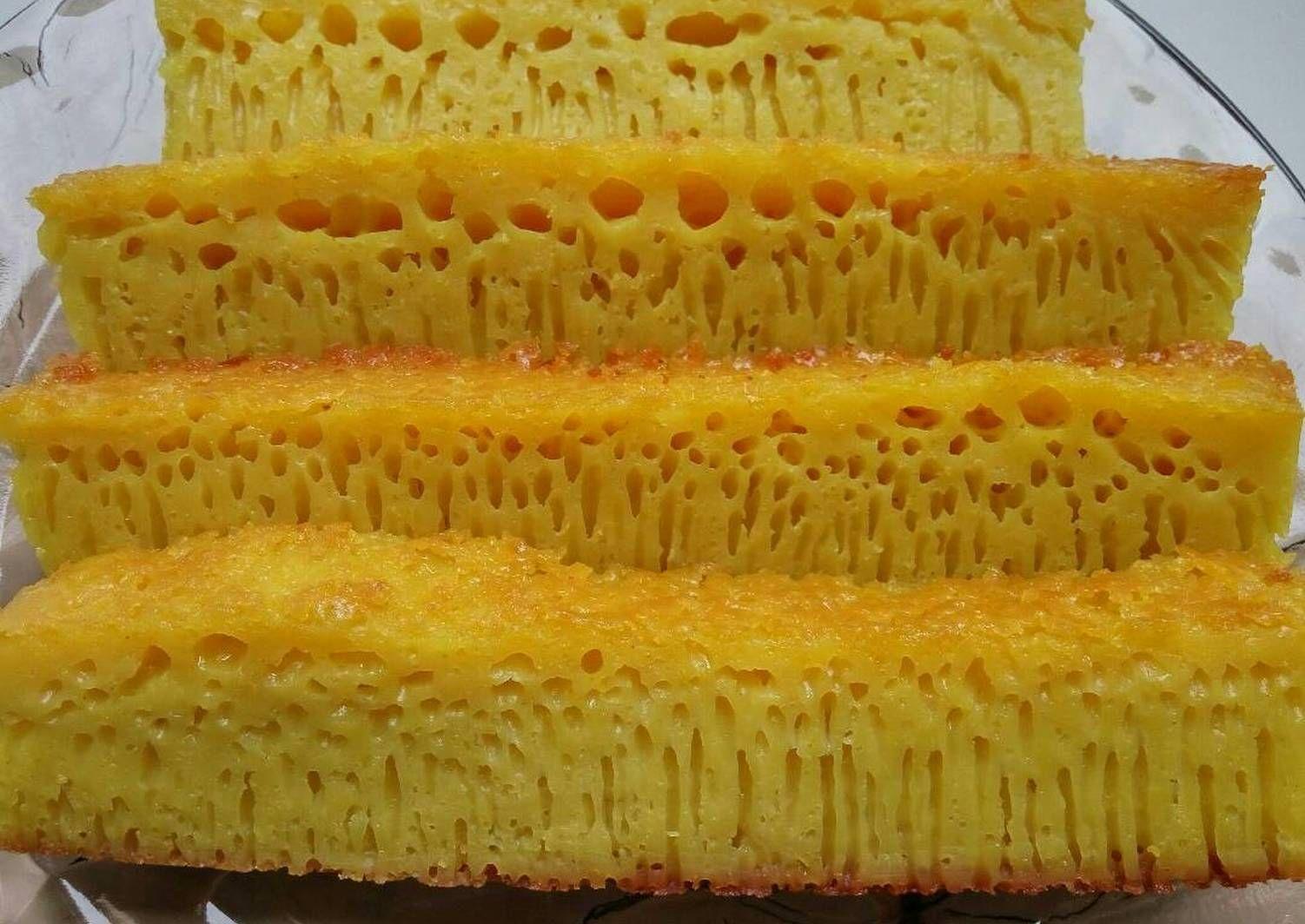 Resep Bika Ambon Simple 5 Telur Oleh Megie Yunita Resep Makanan Roti Hot Dog Resep