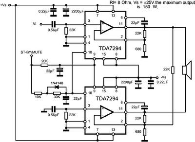 TDA7294 150 W    Power    Amplifier in 2019   Hubby Project