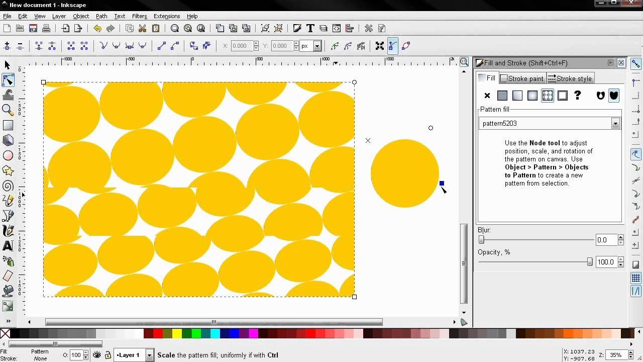 pattern fill  fill and stroke part 6