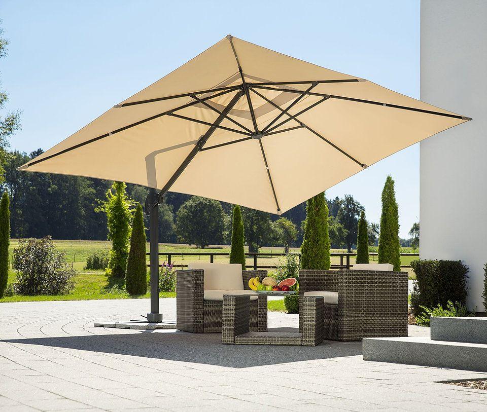 Rüzgara dayanıklı, güneşte solmayan ve yağmur geçirmeyen kumaşlı, paslanmaz  çelik gövdeli, ithal, dayanıklı, akrilik kumaşlı, dekor… | Veranda, Hotel  decor, Şemsiye
