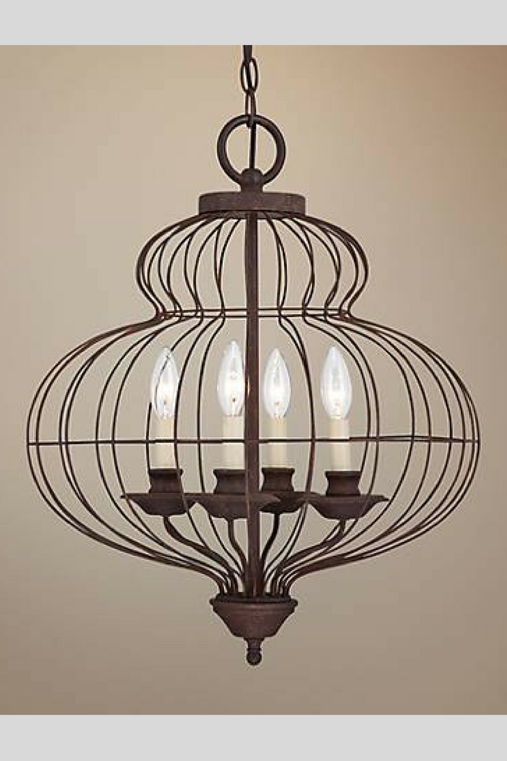 Quoizel laila 19 wide 4 light cage chandelier hang the laila cage quoizel laila 19 wide 4 light cage chandelier hang the laila cage style chandelier by quoizel in your home and bring some old world style to any space arubaitofo Image collections