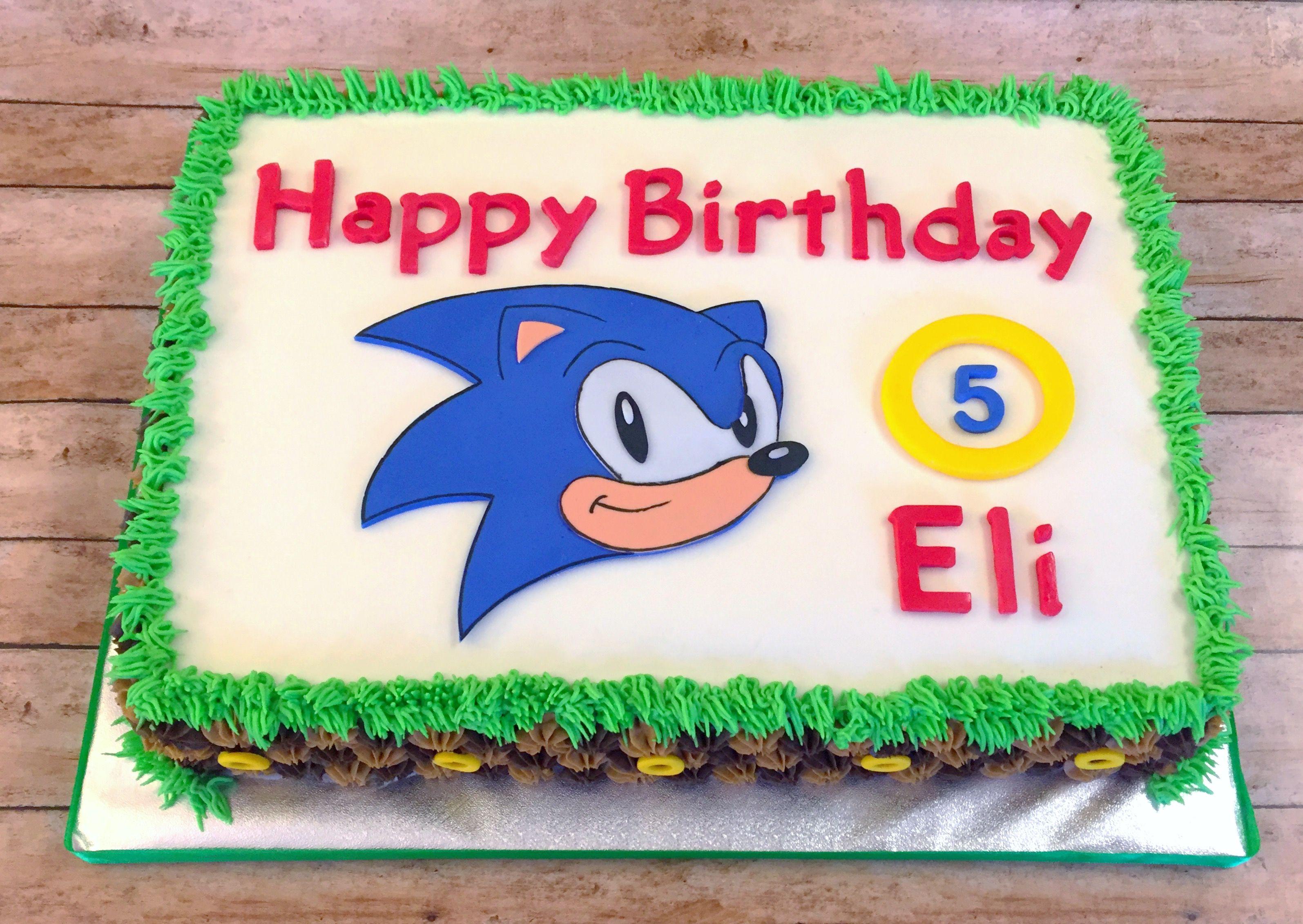 Sonic The Hedgehog Cake Sonic The Hedgehog Cake Birthday Cake Kids Hedgehog Cake