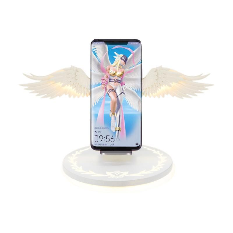 Angel wings wireless phone charger stand fast wireless