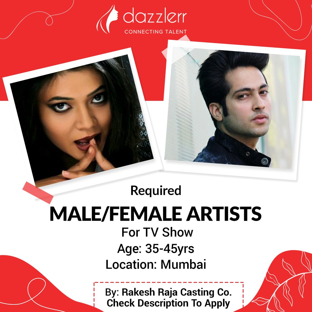 Required Male And Female Character Artists For TV Show in