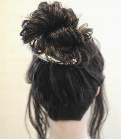 Messy bun updo using a banana clip clips and accessories messy bun updo using a banana clip pmusecretfo Gallery