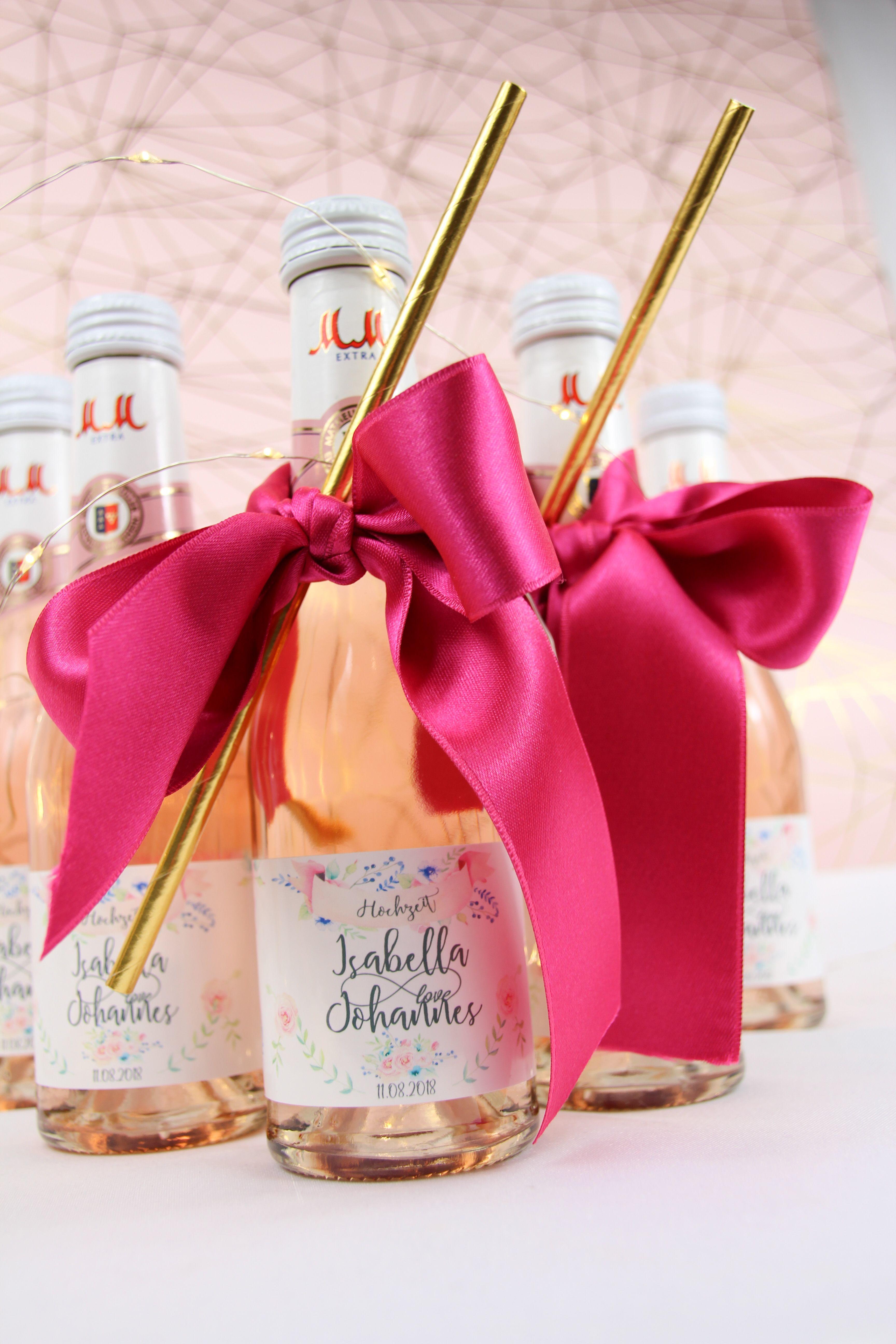 Sektempfang Hochzeit - personalisierte Etiketten für die Piccolos ...