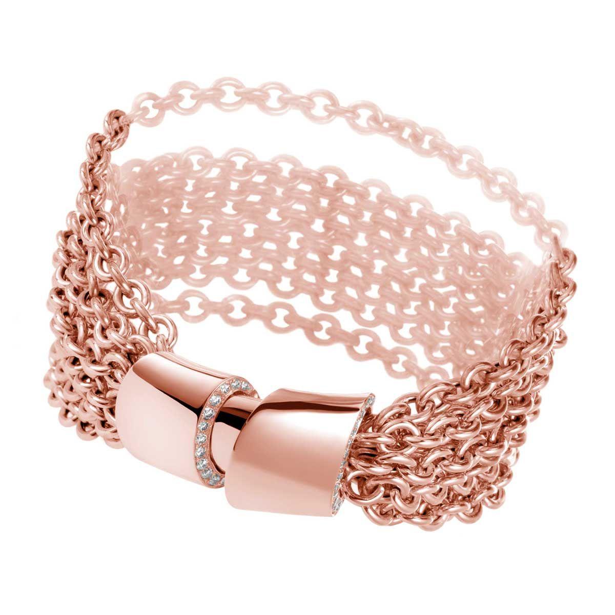 Bracelet in rose gold with diamonds by de grisogono jewelry rose