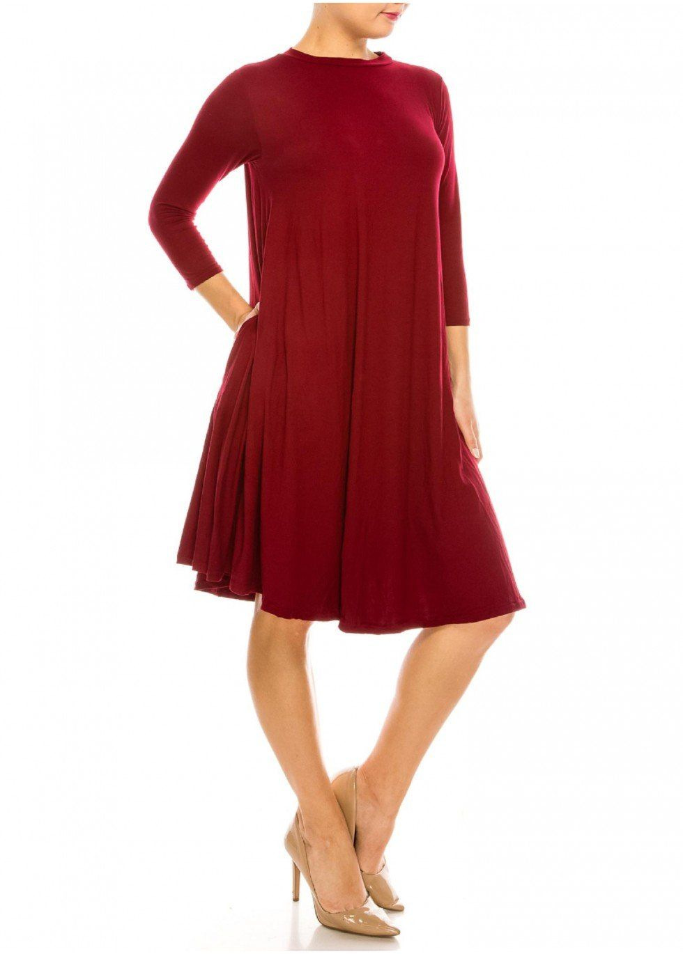 *Promo 3 Pack* - CHOOSE FROM 5 COLORS! Brushed Super Soft Swing Dress