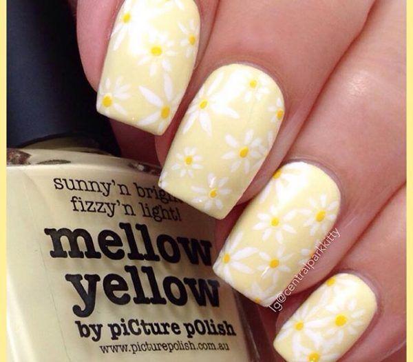 16 Yellow Nails 600x525 Nails Pinterest Nails Yellow Nails