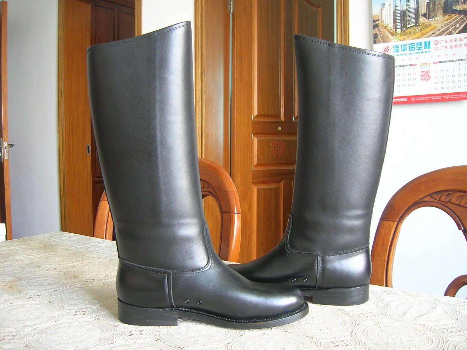 07 S Series China Pla Honor Guard Cattle Leather Boots Rare New Botas De Montar Espuelas Botas