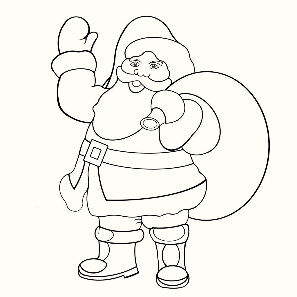Weihnachtsmann – Malvorlage « GedichteWeihnachtsmann ...