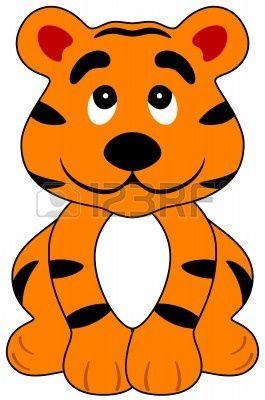 7580464 Ilustracion De Un Tigre Feliz De Dibujos Animados Aislado Jpg 265 400 Cara De Tigre Dibujo Titeres De Animales Cara De Tigre