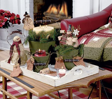 Coffee Table Decor Tray Centerpieces Candles