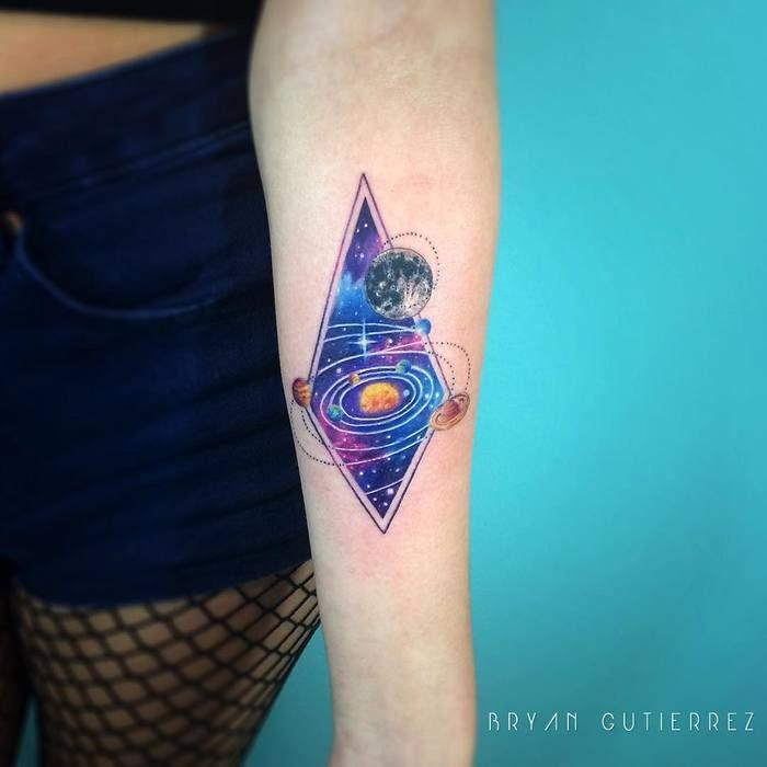 Solar System Tattoo by Bryan Gutierrez