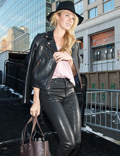 Candice Swanepoel between shows during New York Fashion Week.