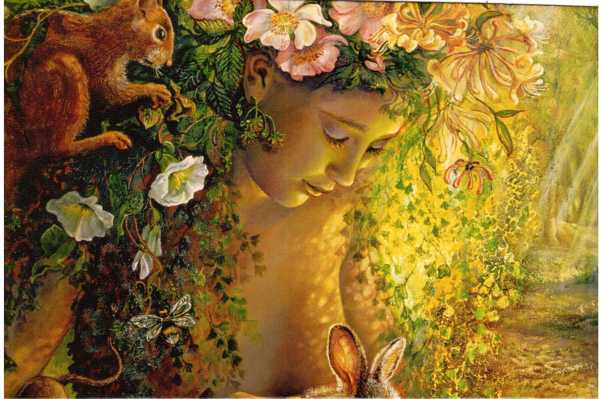 Wood Nymph by Josephine Wall   Wood nymphs and Envelopes
