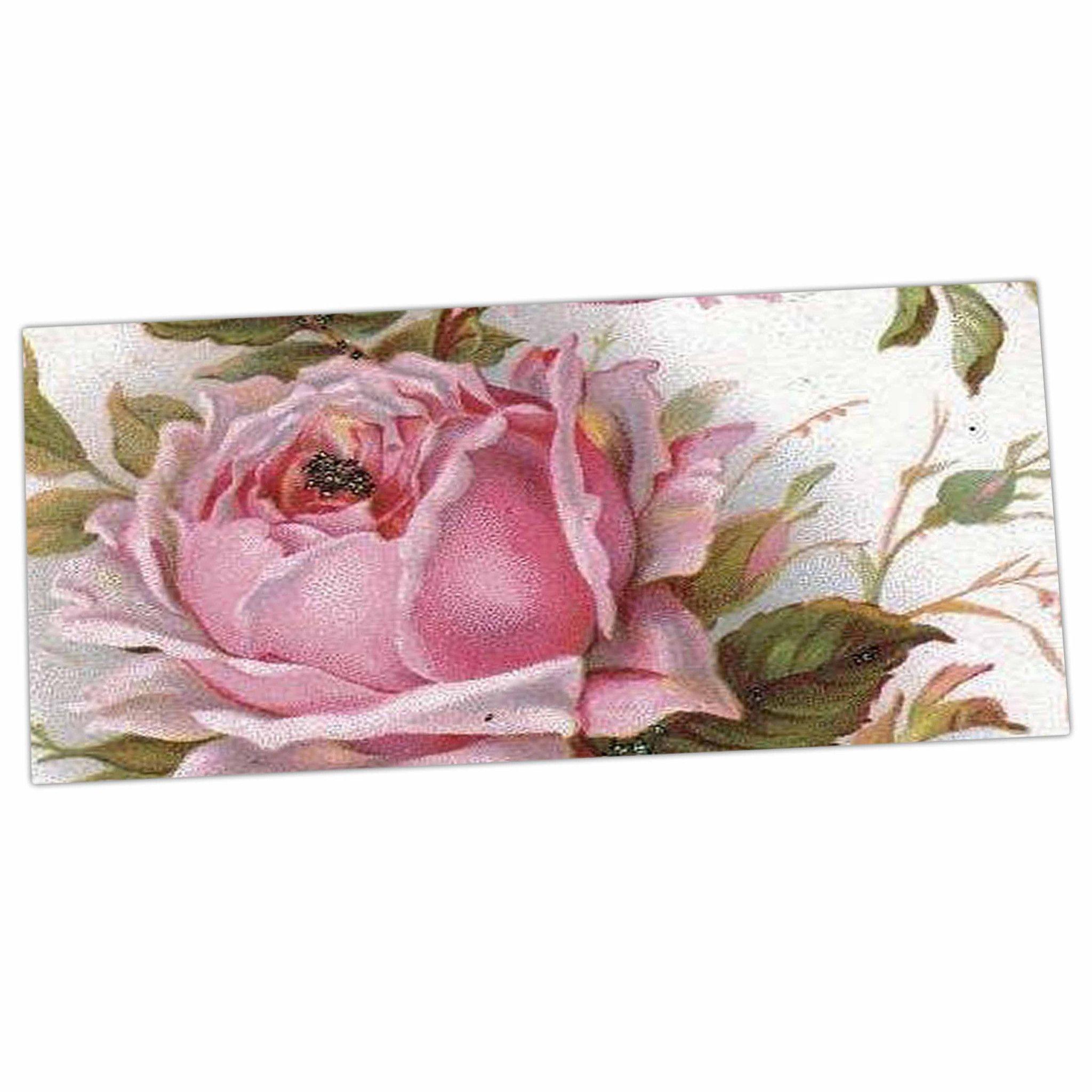 Suzanne Carter Vintage Rose Pink Fl Desk Mat