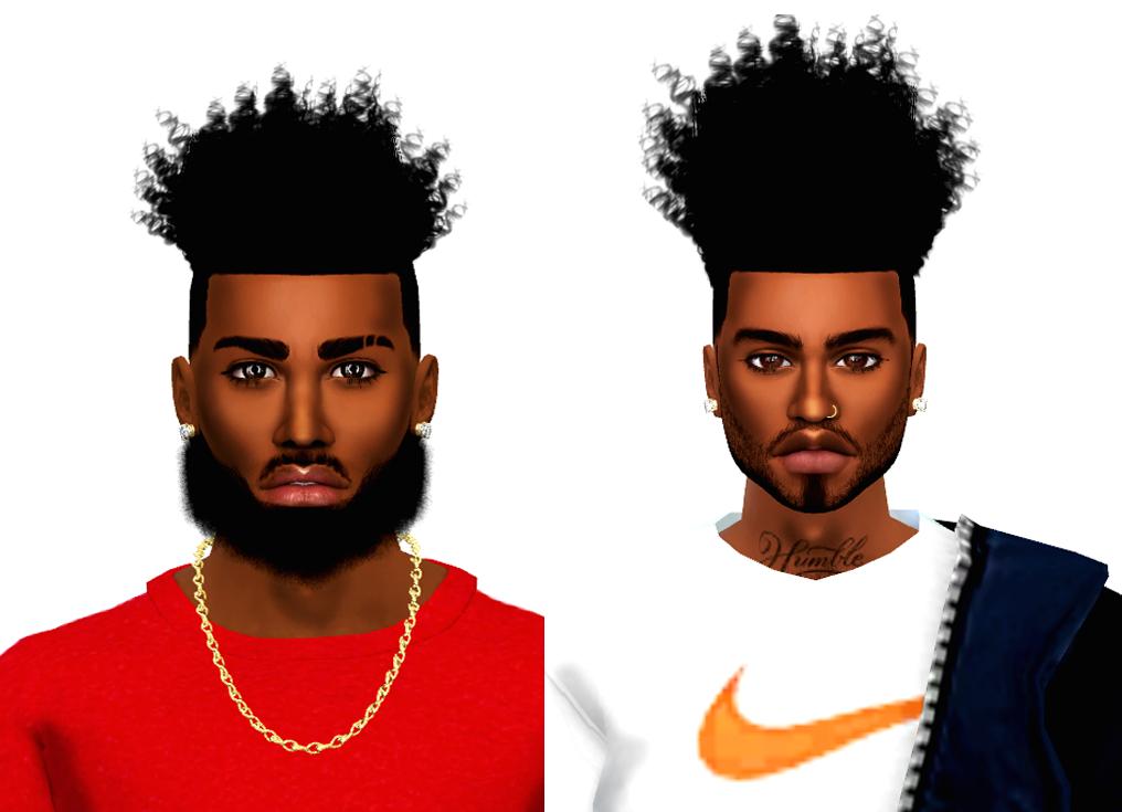 Devcurls Hightop Short And Tall Hair Sims 4 Hair Male Sims Hair Sims 4 Afro Hair
