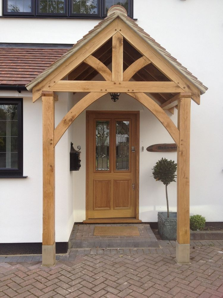 Bespoke Green Oak Porch Front Door Canopy Handmade In Shropshire Grosvenor Home Furniture Diy Materials Doors Accessories Ebay