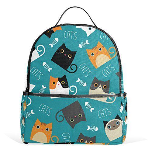 Cat Tree Jstel Kids Backpack Children S Day Gift Cats Blue School