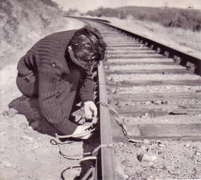 Scène de sabotage Seconde Guerre Mondiale.
