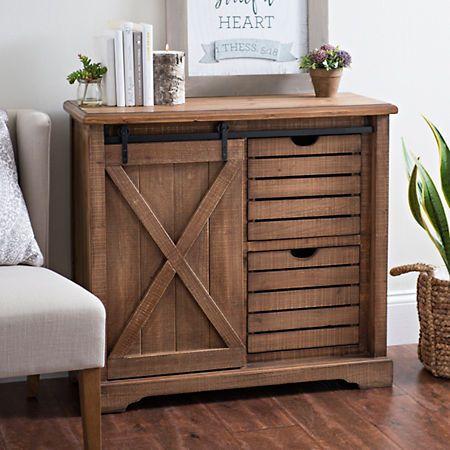 Barn Door 2 Drawer Cabinet In 2020 Rustic Furniture Bedroom Door Design Diy Sliding Barn Door