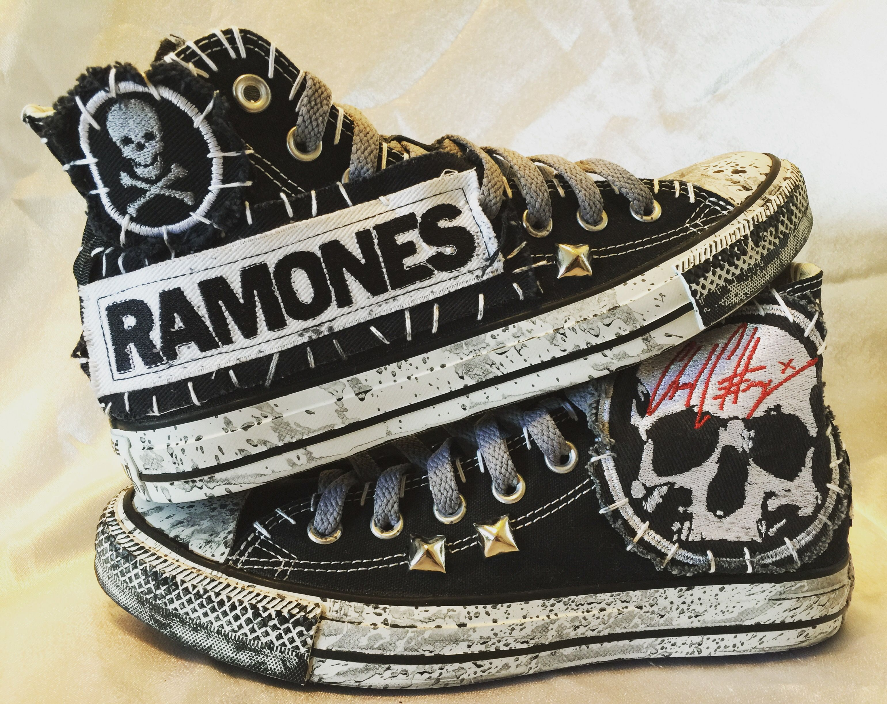 Ramones Converse All Star shoes from Chad Cherry Clothing.
