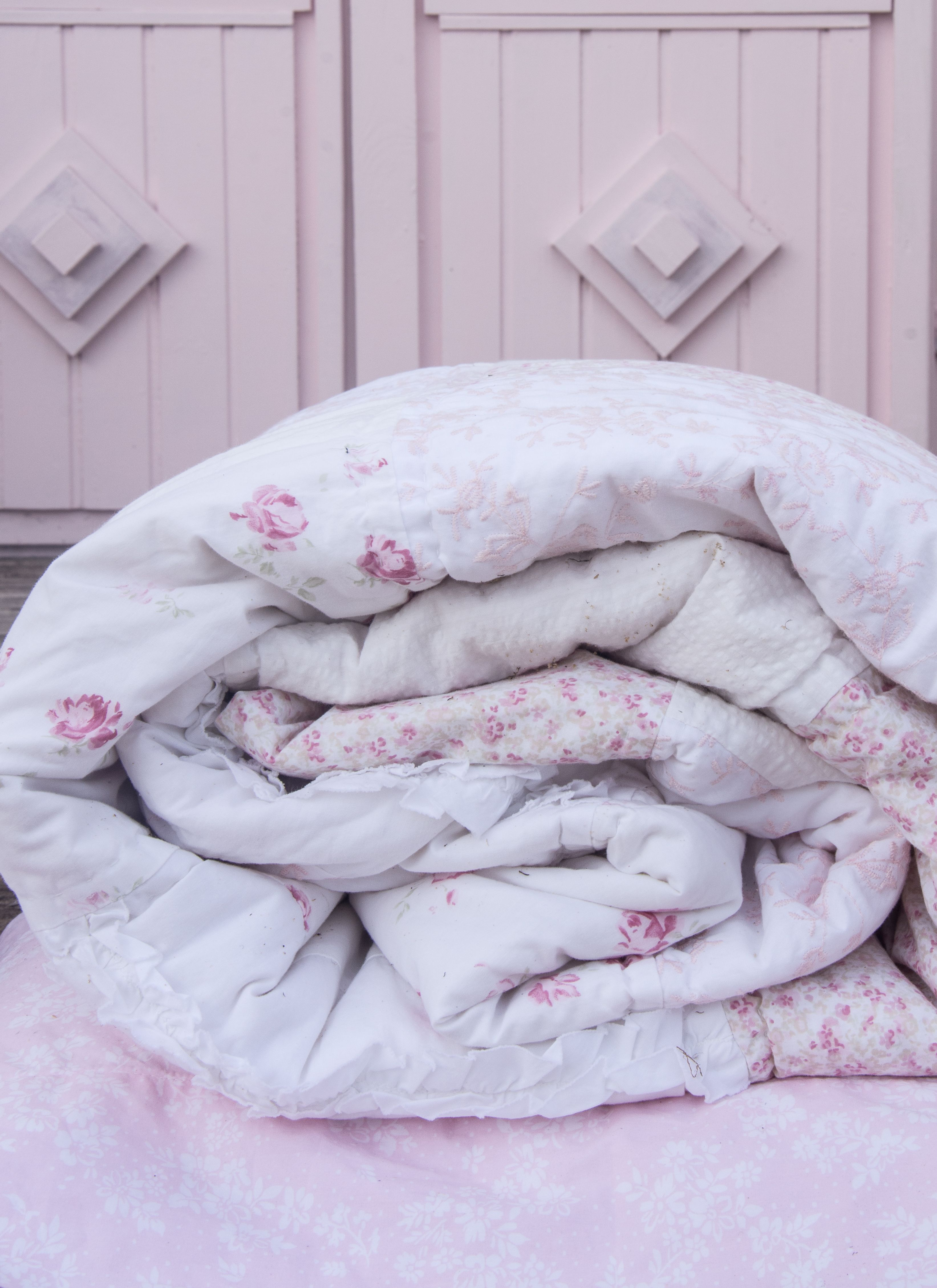 Beautiful Pink Bedding Ditsy Patchwork Quilt Simply Shabby