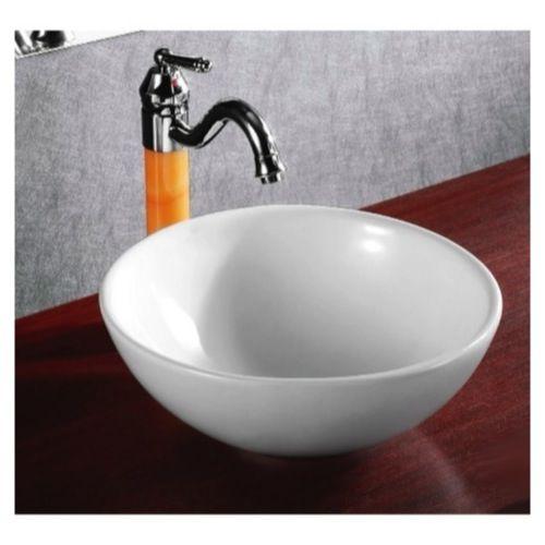 Bathroom Sink Caracalla Ca4030 Round White Ceramic Vessel Glamorous Sink Bowl Bathroom Design Decoration