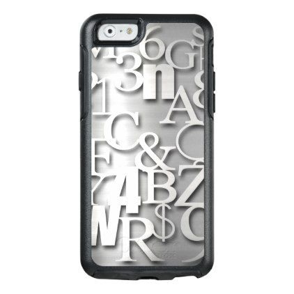 Silver Metallic Letters Numbers  Symbols Otterbox Iphone S