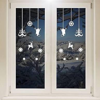 Decorazioni natalizie finestre cerca con google deco - Decorazioni natalizie finestre ...