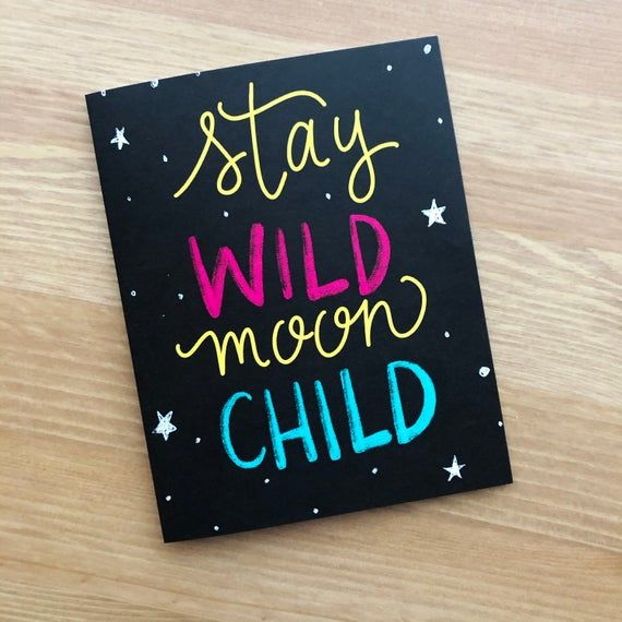 Stay Wild Moon Child Card Folded Card | Etsy