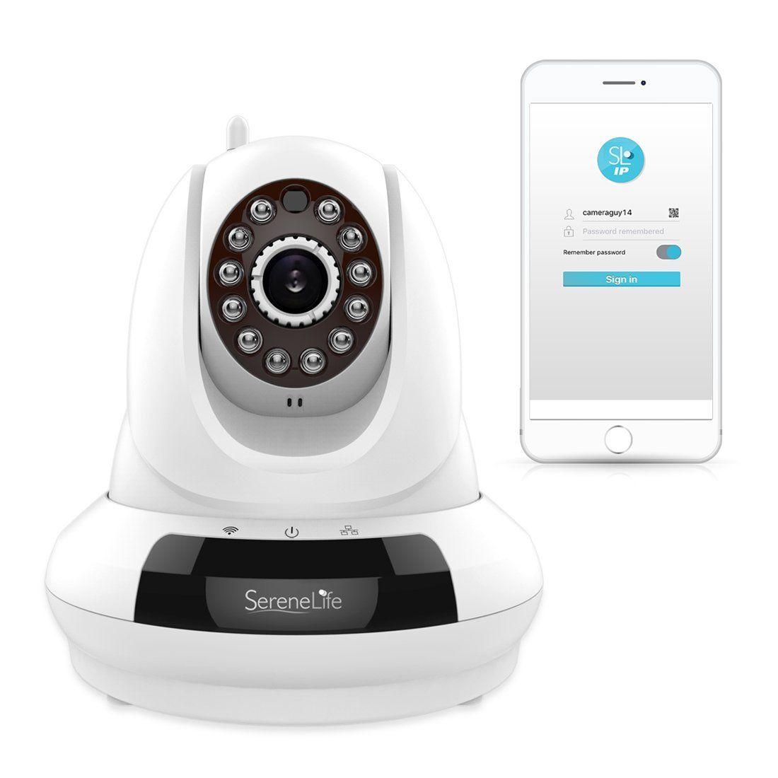 SereneLife IPCAMHD61 HD Wireless Security IP