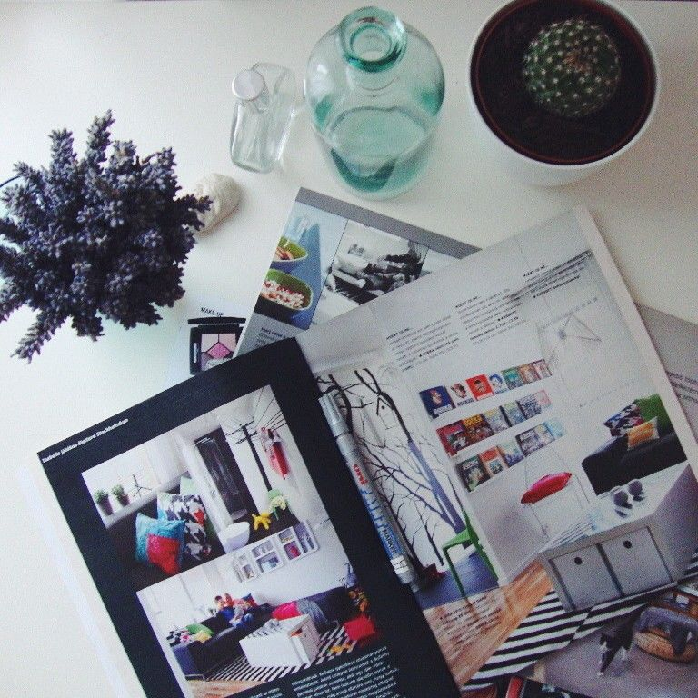Inspiration found in interior ikea magazine ❥